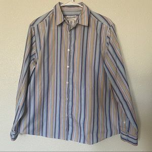 Pendleton Button Down Shirt Striped Large